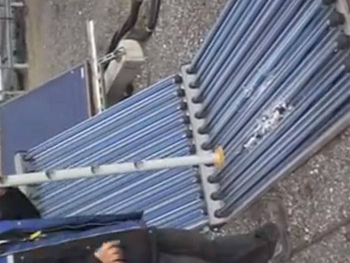 Impacto Colector solar chino