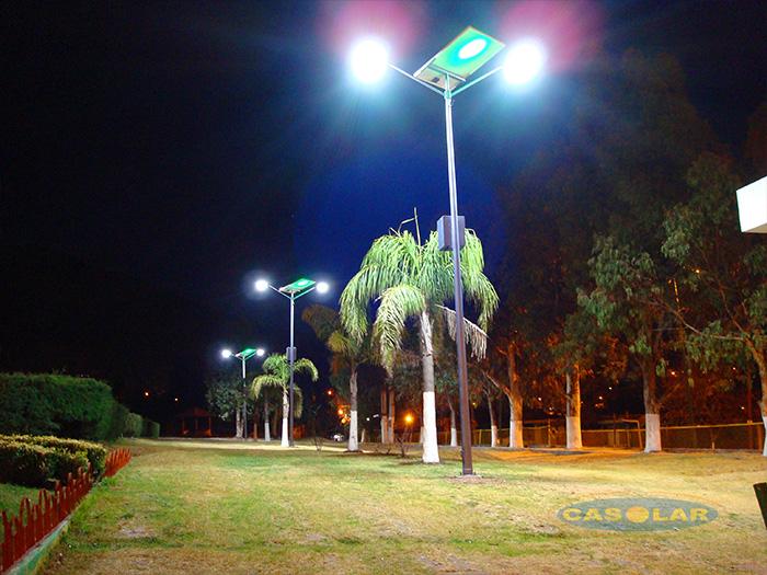 Iluminación Solar Parque Deportivo
